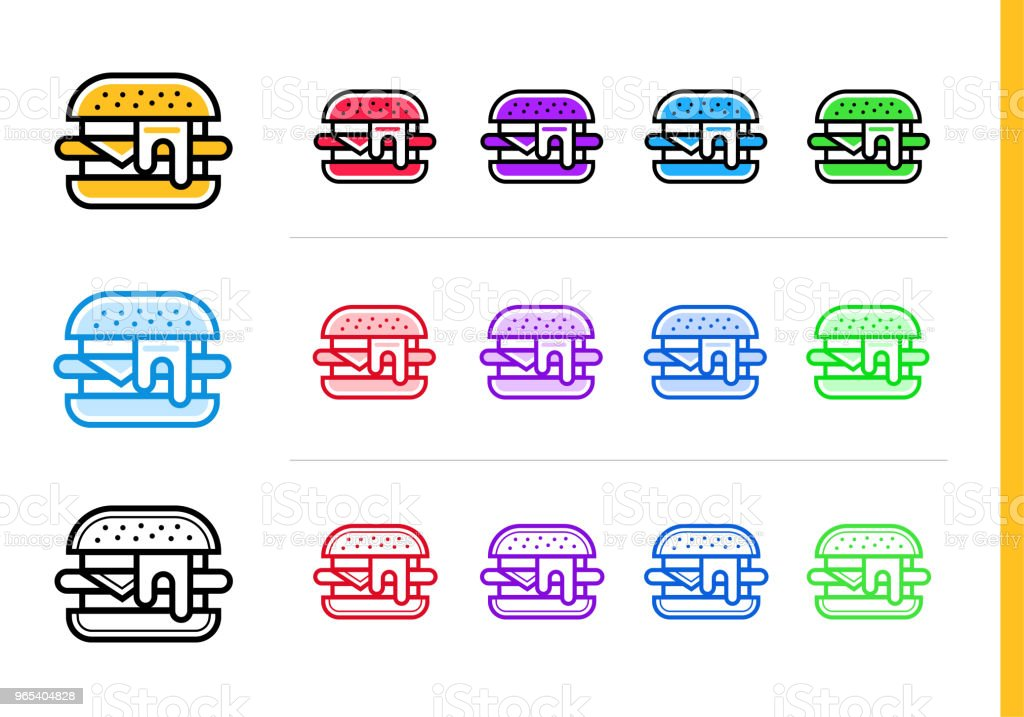 Outline SANDWICH icon in different colors. Vector elements suitable for website, mobile application and presentation outline sandwich icon in different colors vector elements suitable for website mobile application and presentation - stockowe grafiki wektorowe i więcej obrazów bez ludzi royalty-free