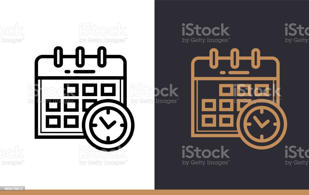 Outline SCHEDULE icon for education. Line icons suitable for info graphics, print media and interfaces outline schedule icon for education line icons suitable for info graphics print media and interfaces - stockowe grafiki wektorowe i więcej obrazów grafika wektorowa royalty-free