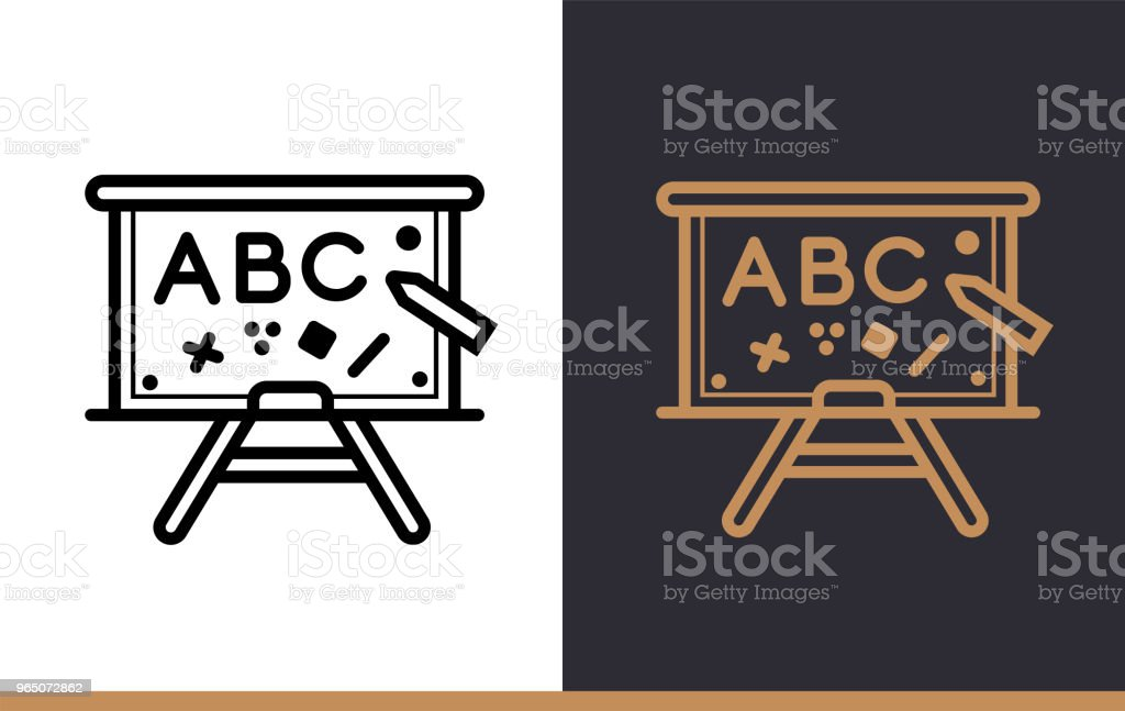 Outline SCHOOL BOARD icon for education. Line icons suitable for info graphics, print media and interfaces royalty-free outline school board icon for education line icons suitable for info graphics print media and interfaces stock vector art & more images of design