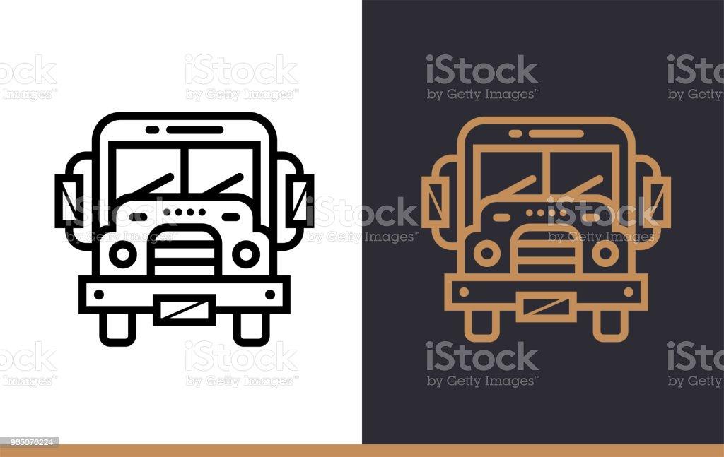 Outline SCHOOL BUS icon for education. Line icons suitable for info graphics, print media and interfaces outline school bus icon for education line icons suitable for info graphics print media and interfaces - stockowe grafiki wektorowe i więcej obrazów autobus szkolny royalty-free