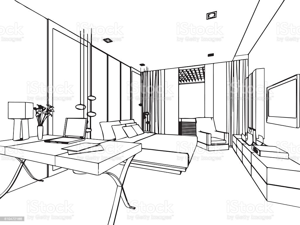 This is a photo of Sly Interior Perspective Drawing