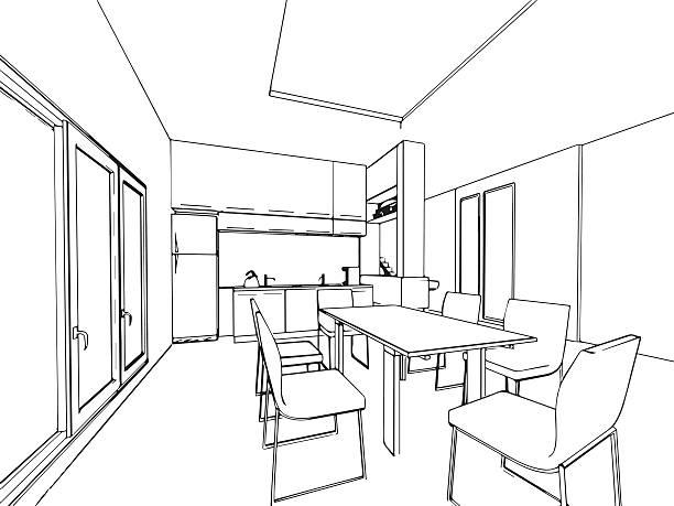 Interior Design Clip Art: Top 60 Dining Room Clip Art, Vector Graphics And