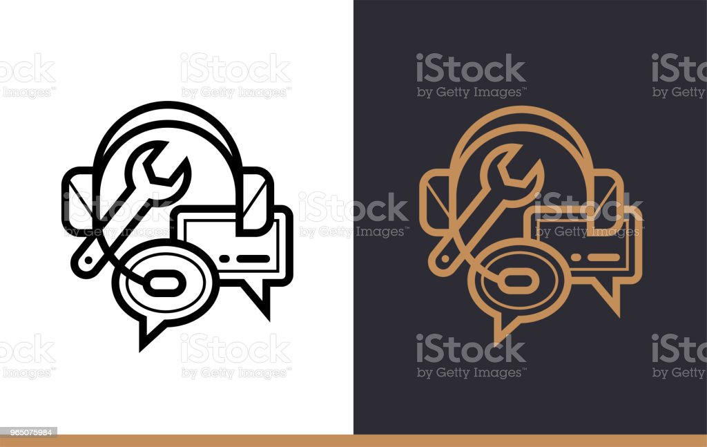 Outline support icon for startup business. Vector line icons suitable for info graphics, print media and interfaces royalty-free outline support icon for startup business vector line icons suitable for info graphics print media and interfaces stock vector art & more images of business