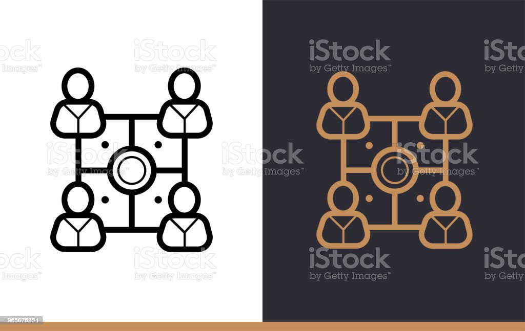 Outline teamwork icon for startup business. Vector line icons suitable for info graphics, print media and interfaces royalty-free outline teamwork icon for startup business vector line icons suitable for info graphics print media and interfaces stock vector art & more images of business