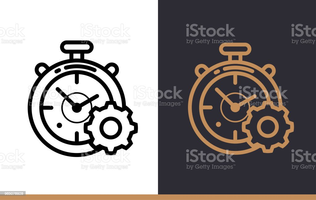 Outline time management icon for startup business. Vector line icons suitable for info graphics, print media and interfaces royalty-free outline time management icon for startup business vector line icons suitable for info graphics print media and interfaces stock illustration - download image now