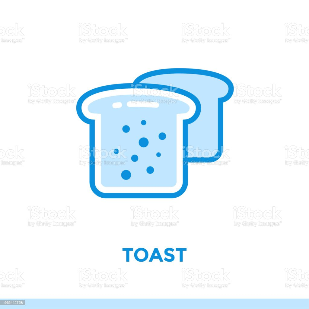Outline TOAST icon. Vector pictogram suitable for print, website and presentation royalty-free outline toast icon vector pictogram suitable for print website and presentation stock vector art & more images of bakery