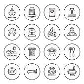 Outline Travel icon set