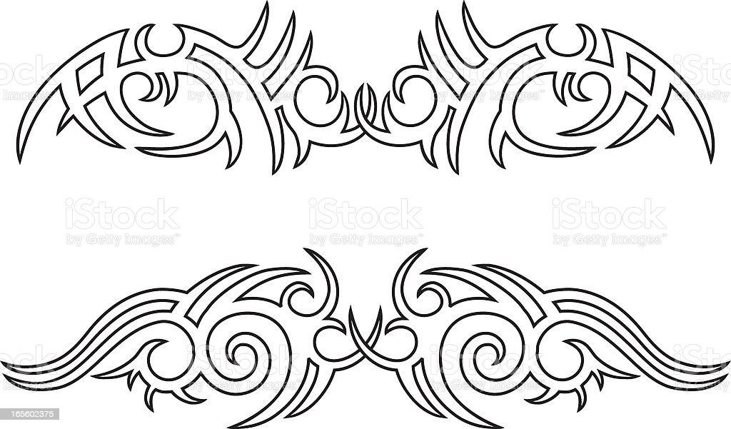Outline Tribal Design royalty-free stock vector art