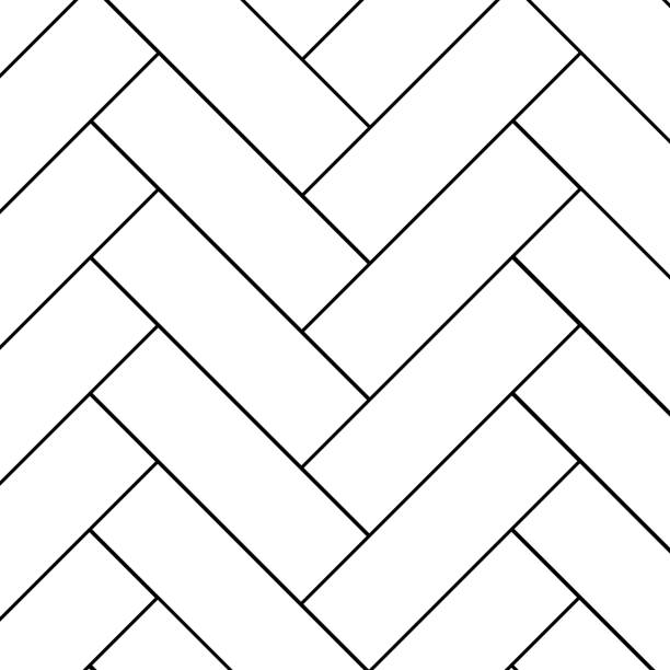 Herringbone Wood Illustrations, Royalty-Free Vector