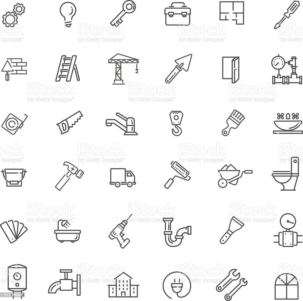 Ilustración de Marco Conjunto De Iconos Webconstrucción Herramientas ...