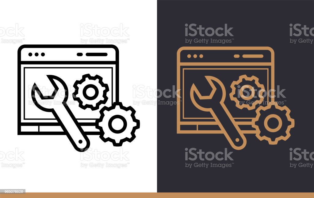 Outline web optimization icon for startup business. Line icons suitable for info graphics, print media and interfaces royalty-free outline web optimization icon for startup business line icons suitable for info graphics print media and interfaces stock vector art & more images of business