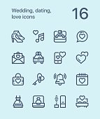 16 outline vector icons