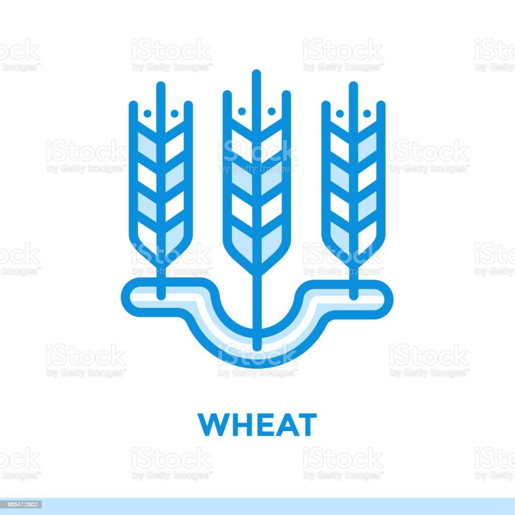 Icône de contour de blé. Pictogramme de vecteur approprié pour l'impression, site Web et présentation - clipart vectoriel de Aliment libre de droits