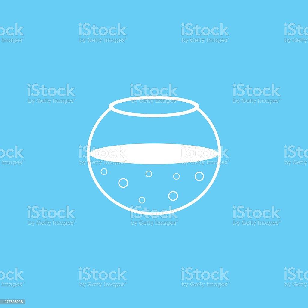 Acquario Di Icona Sagoma Bianca Su Sfondo Blu Immagini Vettoriali