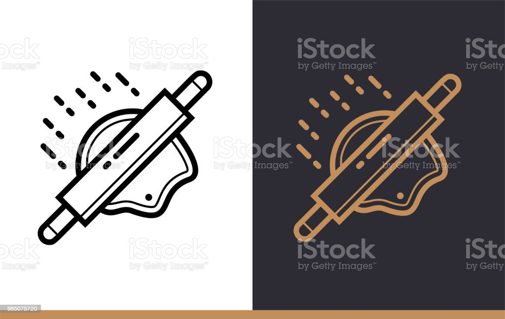 Outline WOODEN ROLLER icon, bakery. Vector line icons suitable for info graphics, print media and interfaces royalty-free outline wooden roller icon bakery vector line icons suitable for info graphics print media and interfaces stock vector art & more images of bakery