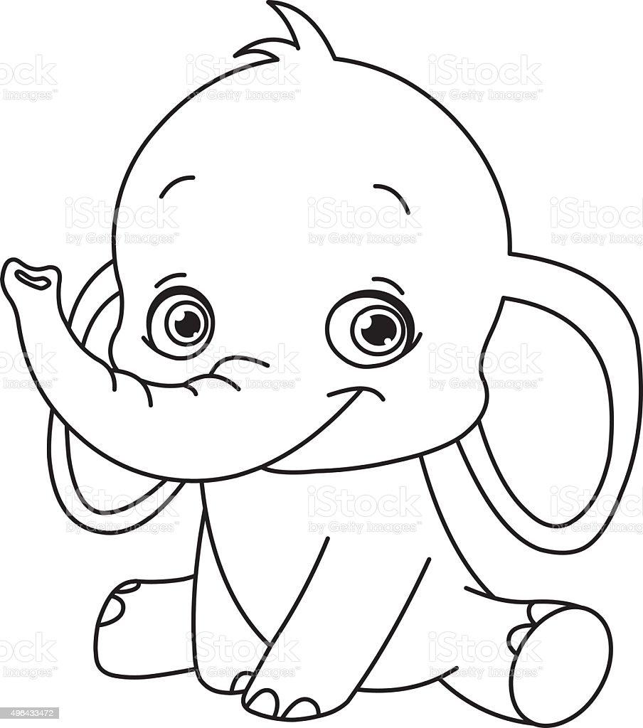 stickerei baby elefant stock vektor art und mehr bilder von 2015 496433472 istock. Black Bedroom Furniture Sets. Home Design Ideas