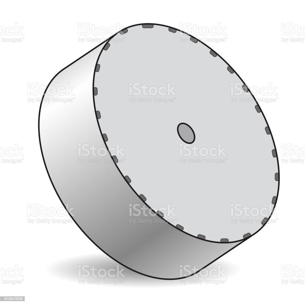 antenne parabolique vecteur décrit en perspective isométrique isolé