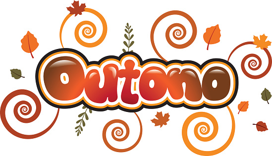 Outono in bubble font