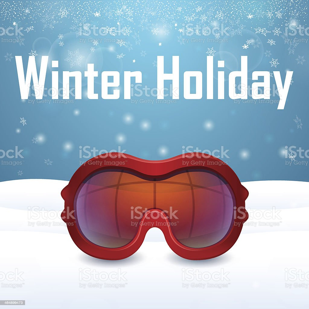 Outside close-up red ski goggles royalty-free outside closeup red ski goggles stock vector art & more images of business travel