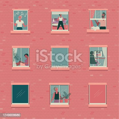 istock Outside looking in concept 1249658680
