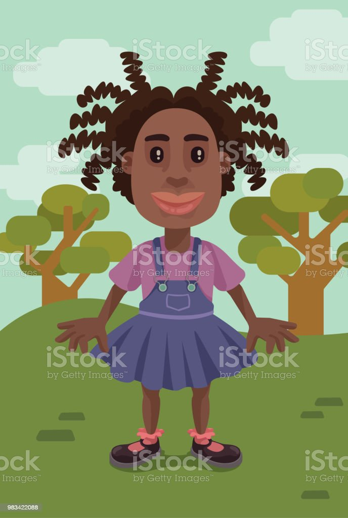 Outside to Play vector art illustration