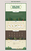 outskirt scene one page website design template