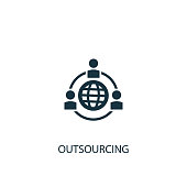 Outsourcing icon. Simple element illustration