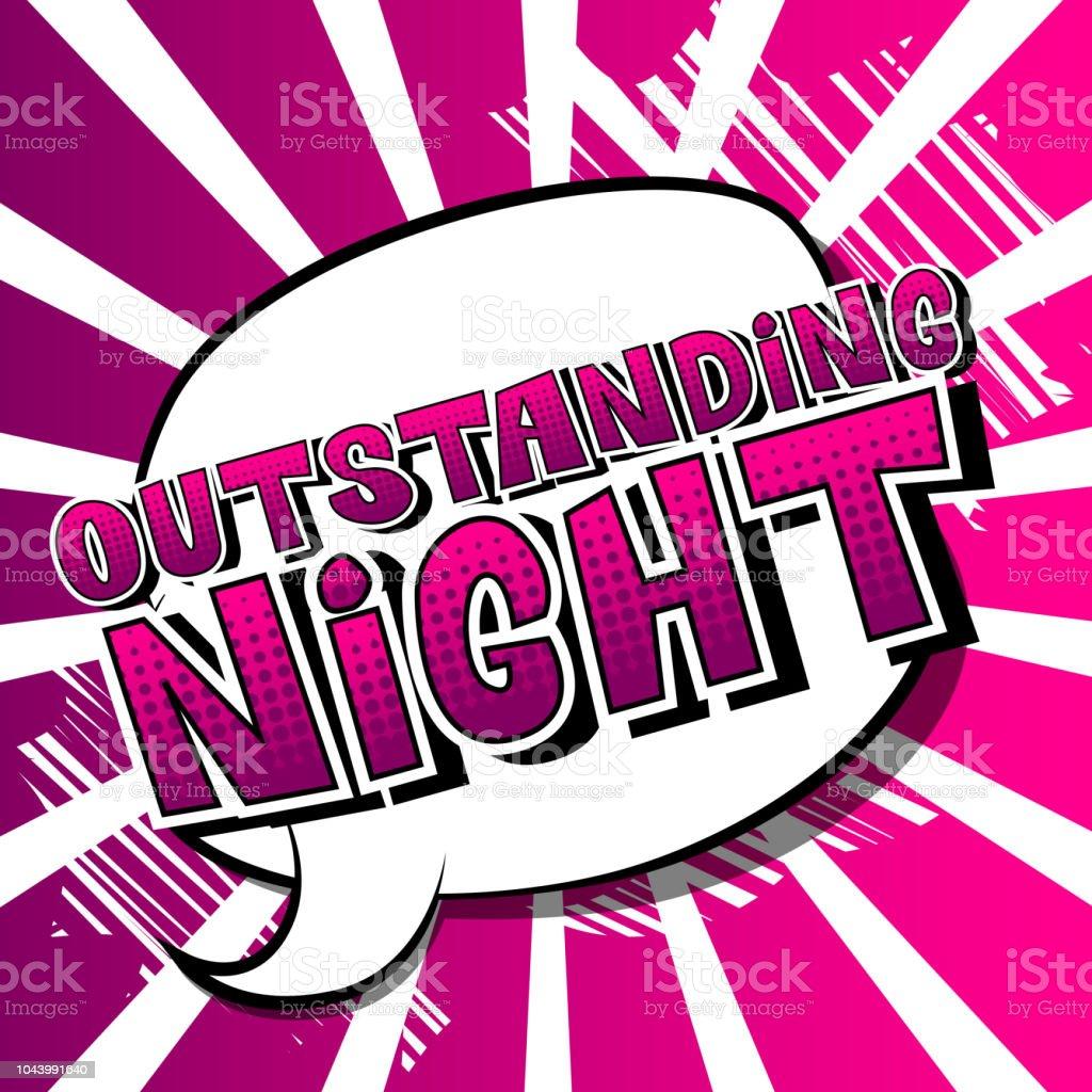 f5f077b839cb Ilustración de Noche Excepcional y más Vectores Libres de Derechos ...