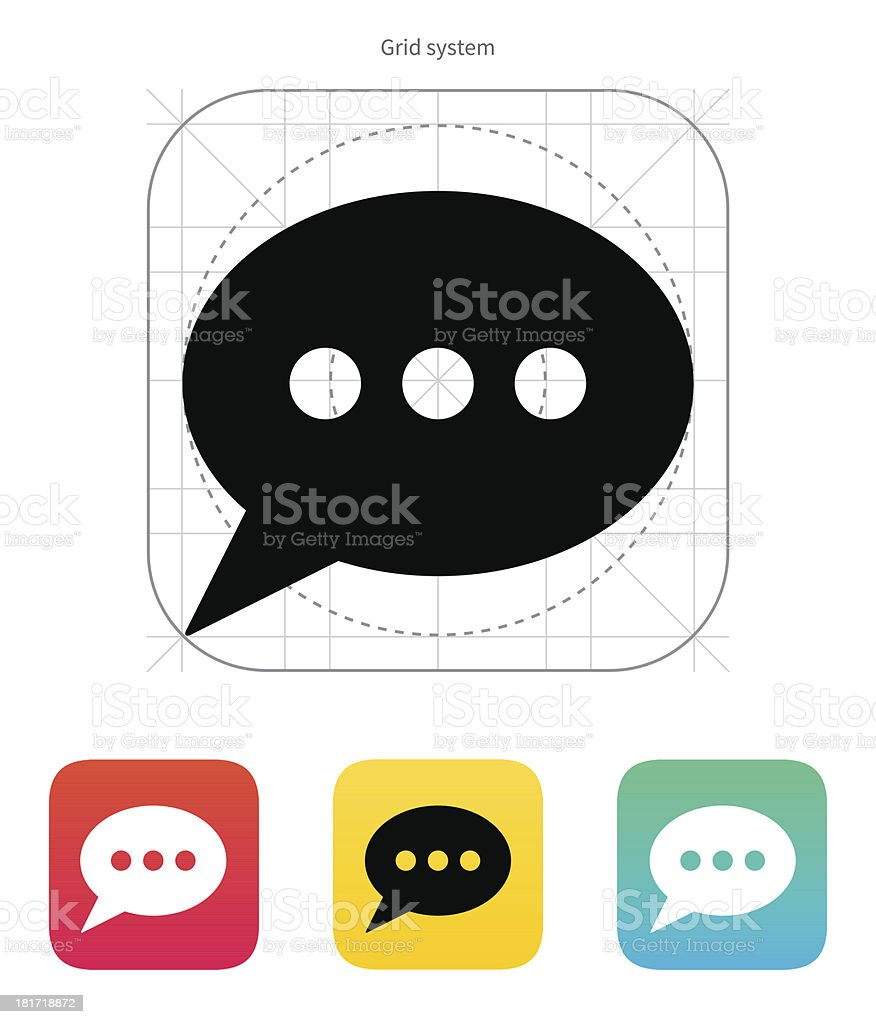 Oval bubble icon. Vector illustration. royalty-free stock vector art
