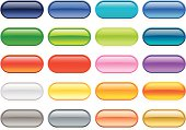 Colorful oval buttons for your Web site or print project.