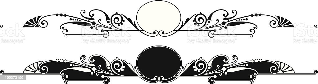 Oval central scroll royalty-free oval central scroll stock vector art & more images of angle