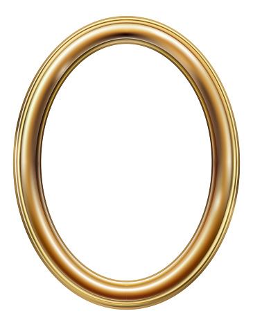 Oval classic golden picture frame