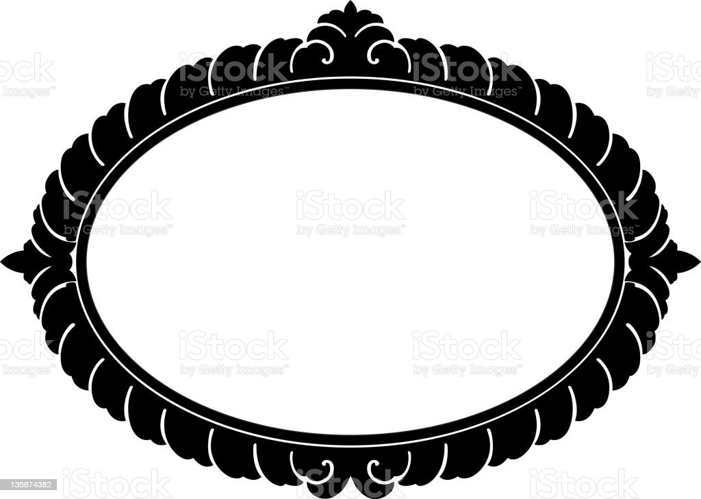 Oval Decorative panel royalty-free oval decorative panel stock vector art & more images of black border