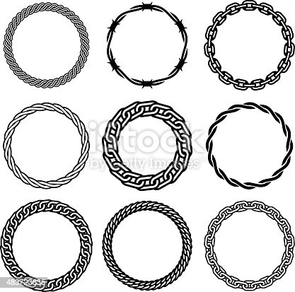 Ornamental circles and frames. Professional Clip Art for your print project or Web site. See more here:
