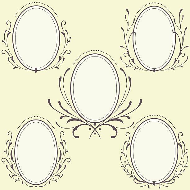 Free Oval Frame Vector Art