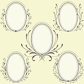 Oval Floral frames ornament