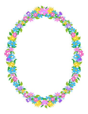 Oval Flower Frame