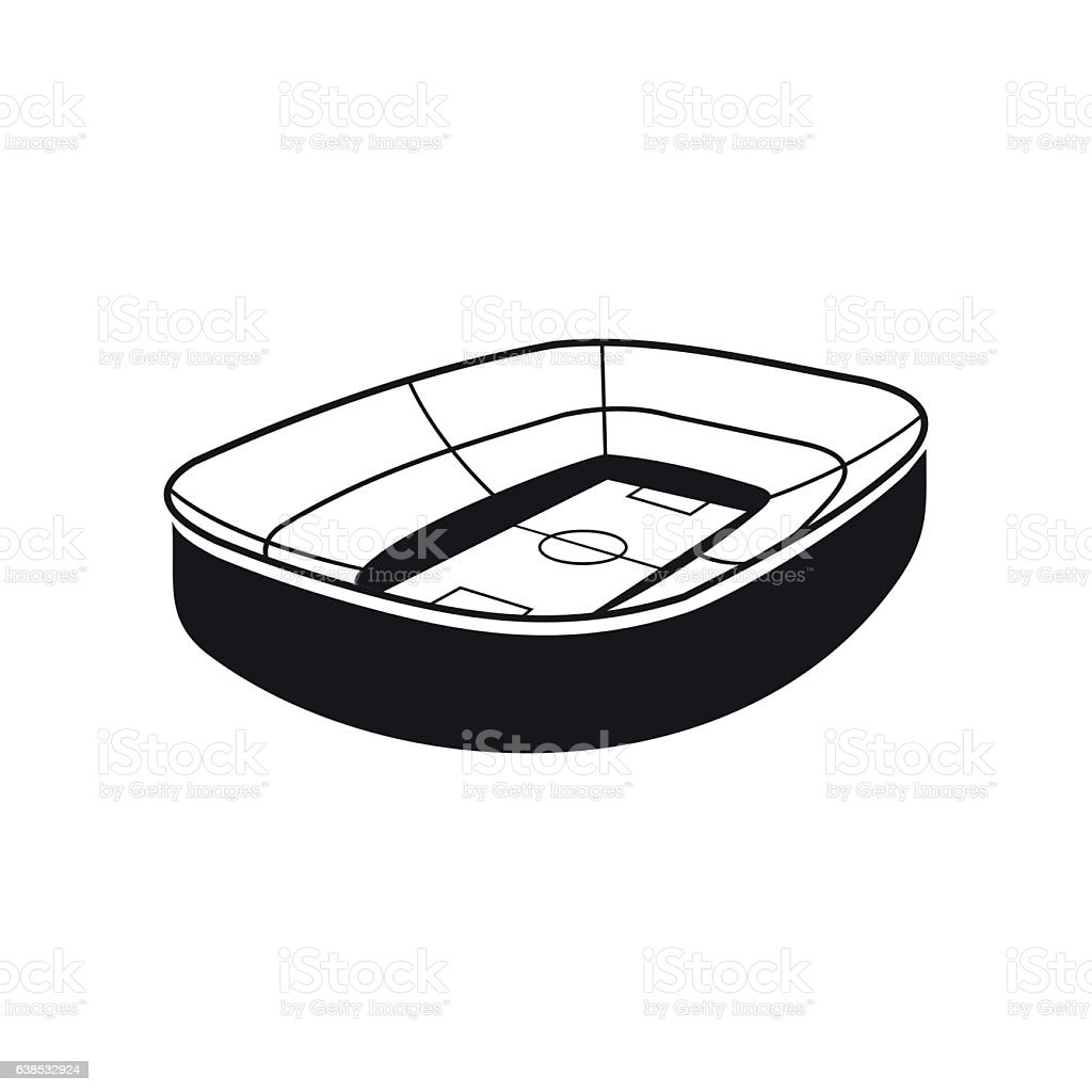stadium icon. Oval Footbal Stadium Black Icon Royalty-free Stock Vector Art