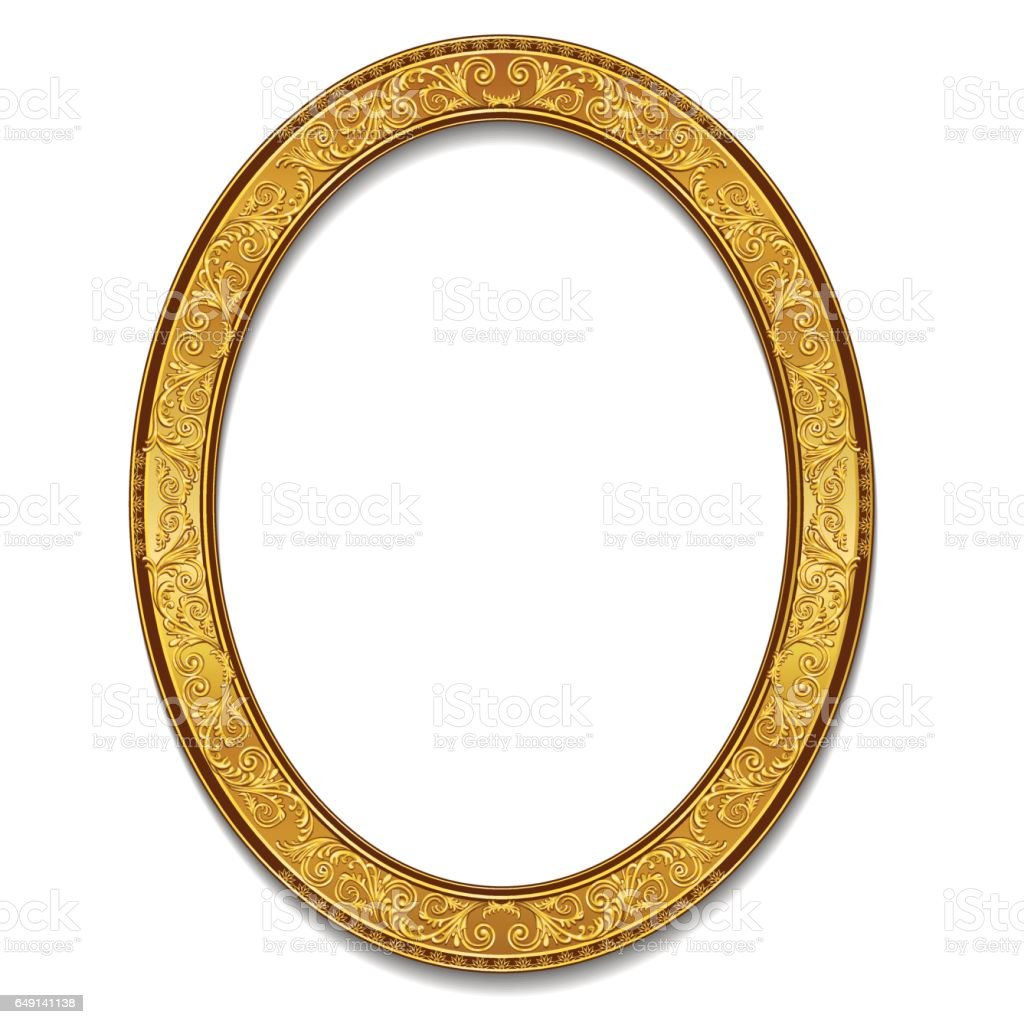 Oval frame gold color with shadow stock vector art more images oval frame gold color with shadow royalty free oval frame gold color with shadow stock jeuxipadfo Images