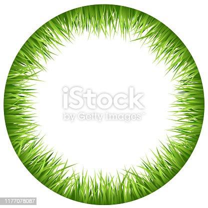 Circle frame made of grass