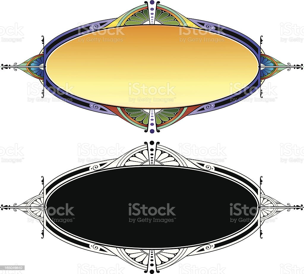 Oval Lettering Panel royalty-free stock vector art
