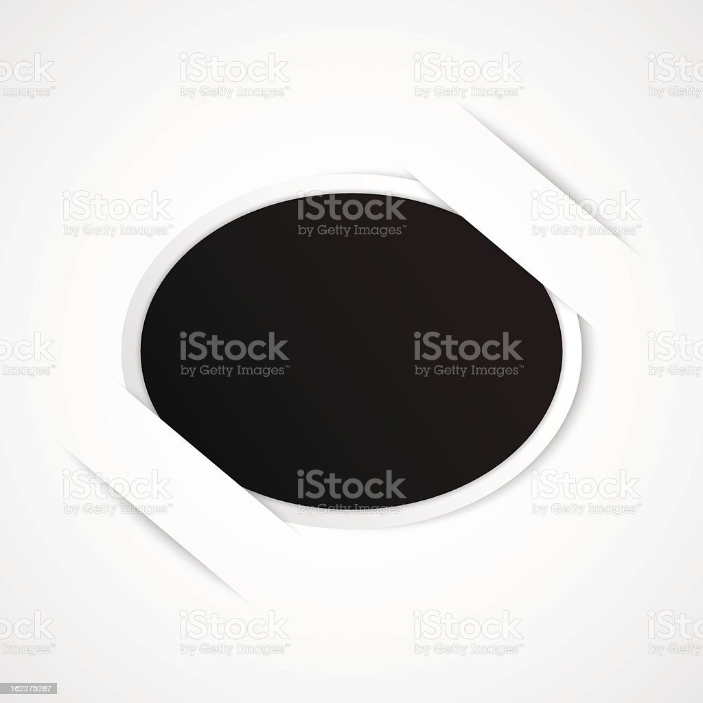oval photo frame for your object royalty-free stock vector art