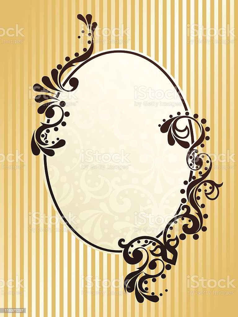 Oval vintage sepia frame royalty-free stock vector art