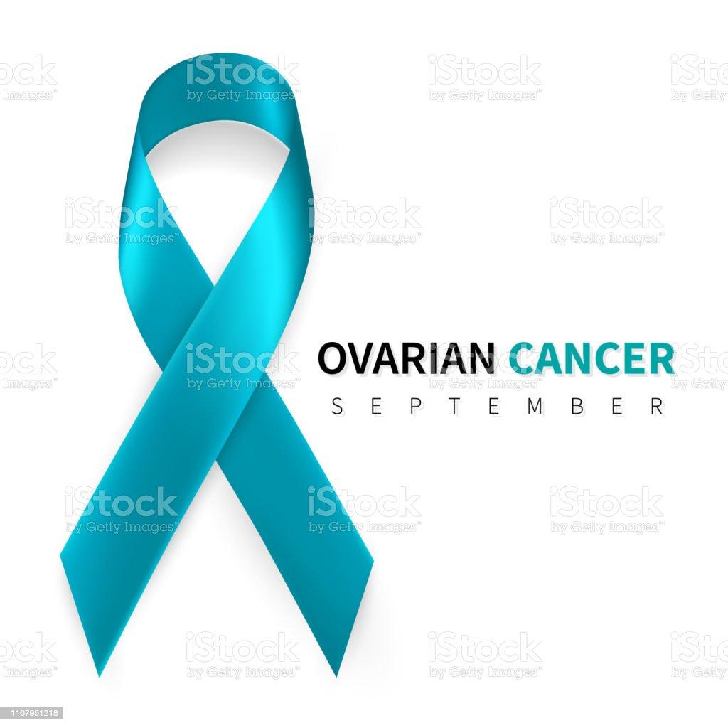 Ovarian Cancer Awareness Month Realistic Teal Ribbon Symbol Medical Design Vector Illustration Stock Illustration Download Image Now Istock