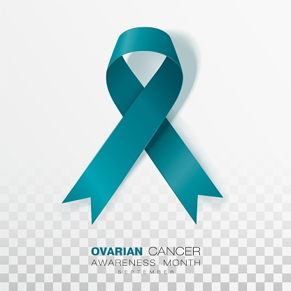 Ovarian Cancer Awareness Month Teal Color Ribbon Isolated On Transparent Background Vector Design Template For Poster Stock Illustration Download Image Now Istock