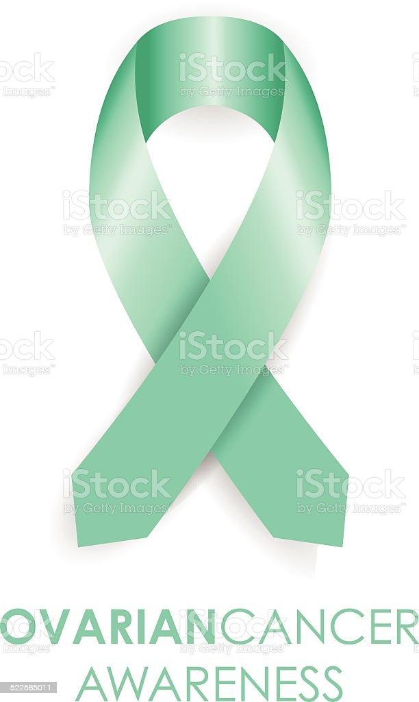 Ovarian cancer ribbon vector art illustration