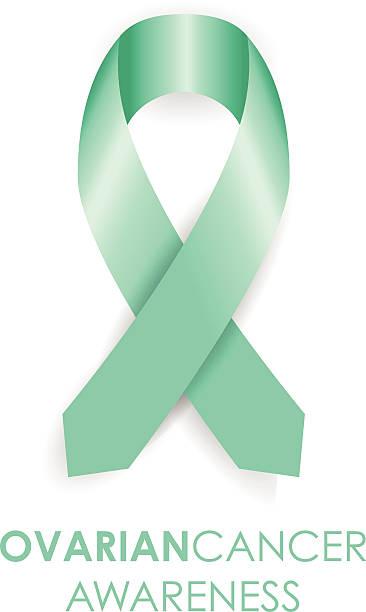 ovarian cancer ribbon - ovarian cancer ribbon stock illustrations