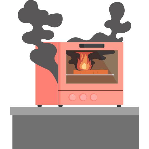 オーブン トースターやけど ベクターアートイラスト