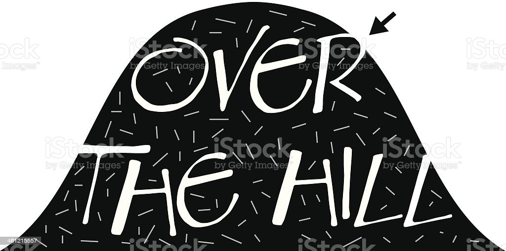 Over The Hill Heading vector art illustration
