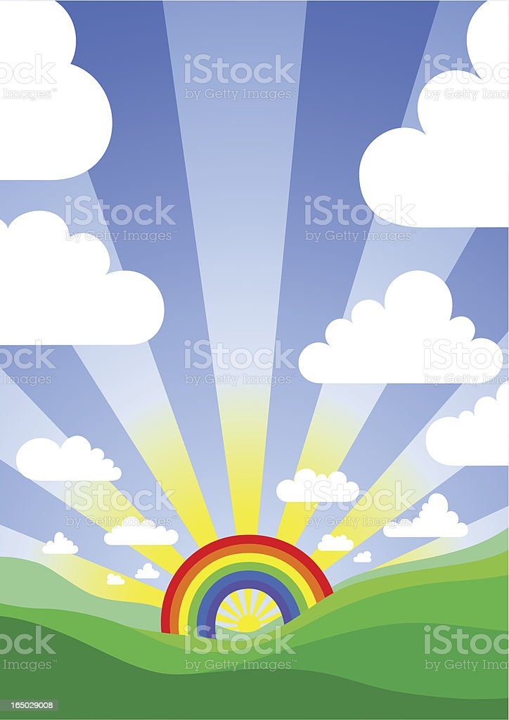 over the rainbow royalty-free stock vector art